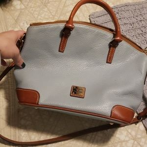 Dooney and Bourke light pale blue small tote bag.